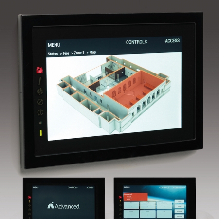 TouchControl Touchscreen Repeater for Fire Alarm